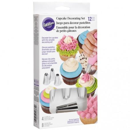 kit complet pour decoration cupcakes AVEC DOUILLES ET POCHES