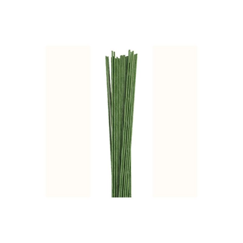 fil fleurs gauges 20 vert