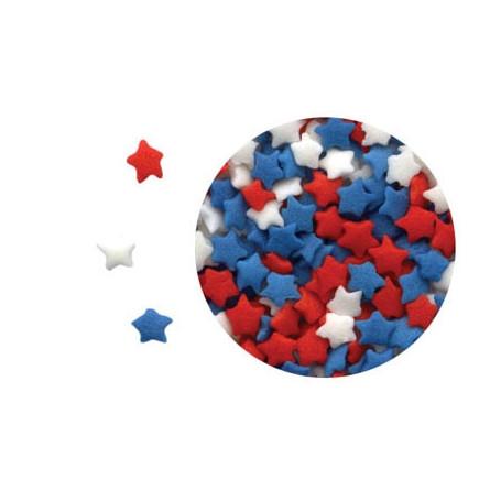 Confettis petites etoiles BLEU BLANC ROUGE