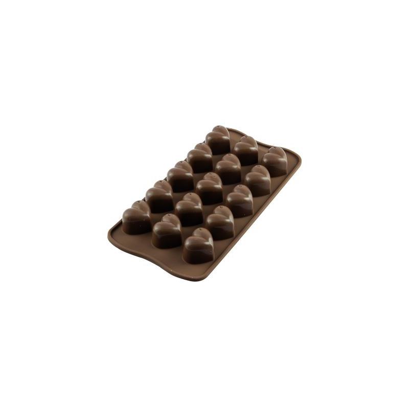 MOULE CHOCOLAT EN FORME DE DOUBLE COEUR